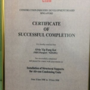 CIDB CERTIFICATE OF SUCCESSFUL COMPLETION