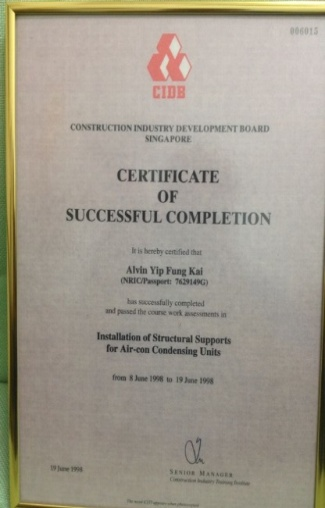 CIDB CERTIFICATE OF SUCCESSFUL COMPLETION   Lightning